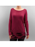 Urban Classics Longsleeve Ladies Cutted Viscose rot