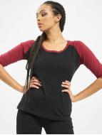 Urban Classics Maglietta a manica lunga Ladies 3/4 Contrast Raglan nero