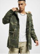 Urban Classics Manteau Garment Washed Camo camouflage