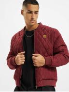 Urban Classics Montlar Diamond Quilt Nylon kırmızı