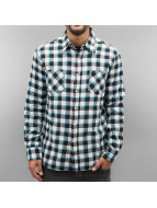 Urban Classics overhemd Tricolor Checked Light Flanell zwart