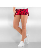 Urban Classics Pantalón cortos Zebra rojo
