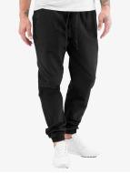 Urban Classics Pantalón deportivo Washed Canvas negro