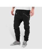 Urban Classics Pantalone ginnico Zip Deep Crotch nero