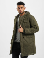 Urban Classics Parka Cotton Peached Canvas olijfgroen