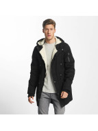 Urban Classics Parka Canvas Cotton zwart