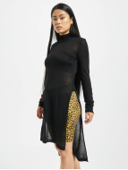 Urban Classics Pullover Urban Classics Ladies Fine Knit Turtleneck Long Shirt noir