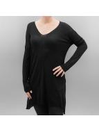 Urban Classics Pullover Ladies Fine Knit Oversize V-Neck noir