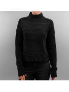 Urban Classics Pullover Ladies Chenille Turtleneck schwarz