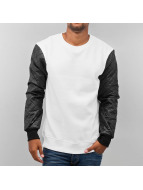 Urban Classics Pullover Quilt Leather weiß