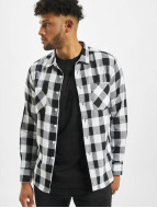 Urban Classics Shirt Checked Flanell white