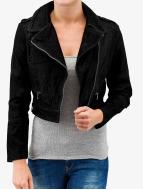Short Biker Jacket Black...