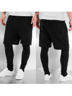 Urban Classics shorts 2 in 1 Leggings zwart