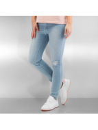 Urban Classics Skinny Jeans Ladies High Waist blau
