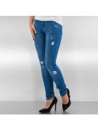 Urban Classics Skinny Jeans Ripped Denim mavi