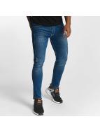 Urban Classics Skinny Jeans Ripped niebieski
