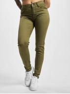 Urban Classics Skinny Jeans Ladies zeytin yeşili