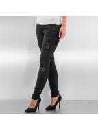 Urban Classics Skinny jeans Ripped Denim zwart