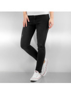 Urban Classics Skinny jeans Ladies High Waist zwart