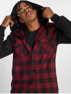 Urban Classics Skjorter Hooded Checked Flanell red