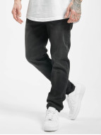 Urban Classics Straight Fit Jeans Stretch Denim sort