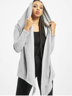 Urban Classics Strickjacke Ladies Hooded grau