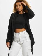Urban Classics Strickjacke Ladies Hooded schwarz