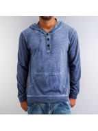 Urban Classics Sweat à capuche Spray Dye Slub bleu