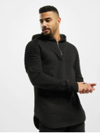 Urban Classics Sweat à capuche Pleat Sleeves Terry noir
