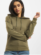 Urban Classics Sweat à capuche Ladies olive