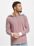 Urban Classics Sweat à capuche Stripe Jersey rouge