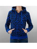 Urban Classics Sweat à capuche zippé Zebra bleu