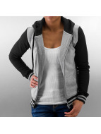 Urban Classics Sweat à capuche zippé Ladies 2-Tone College gris