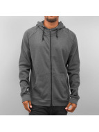 Urban Classics Sweat à capuche zippé Heavy Interlock gris
