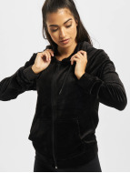 Urban Classics Sweat à capuche zippé Ladies Velvet noir