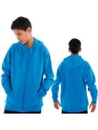Urban Classics Sweat à capuche zippé Kids turquoise