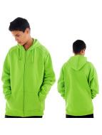 Urban Classics Sweat à capuche zippé Kids vert