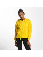Urban Classics Sweat capuche zippé Kimono jaune