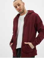 Urban Classics Sweat capuche zippé Basic rouge