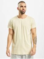 Urban Classics t-shirt Turnup beige