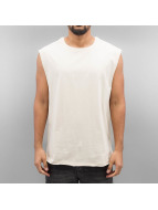 Urban Classics T-Shirt Open Edge Sleeveless beige