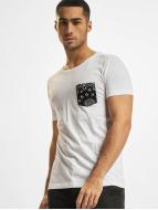 Urban Classics T-Shirt Contrast Pocket blanc
