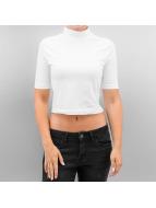 Urban Classics T-Shirt Cropped Turtleneck blanc