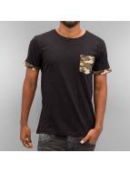 Urban Classics T-Shirt Camo Contrast Pocket camouflage