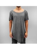Urban Classics t-shirt Asymetric Long Spray Dye grijs