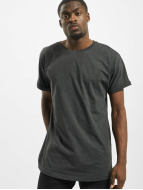 Urban Classics t-shirt Long Shaped Turnup grijs