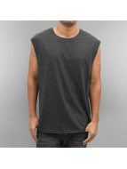 Urban Classics t-shirt Open Edge Sleeveless grijs
