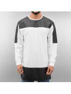 Urban Classics T-Shirt manches longues Leather Imitation Block blanc