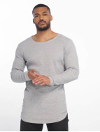 Urban Classics T-Shirt manches longues Long Shaped Waffle gris