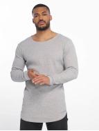 Urban Classics T-Shirt manches longues Long Shaped Waffle gris